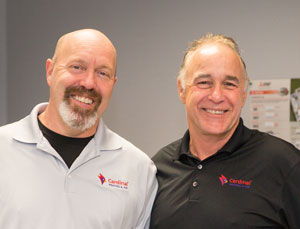 Rory Richardson & Mike Hastings, owners of Cardinal Heating & Air