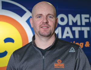 Corey Hickmann, owner of Comfort Matters Heating and Cooling