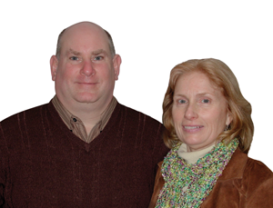 Milt Baum and Barbara Keil, owners of Keil Heating and Cooling